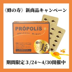 栄養機能食品 蜂の寿 濃縮プロポリスカプセル プロポリス