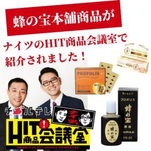 蜂の宝本舗 千葉テレビ ナイツ HIT商品会議室 紹介